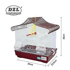 DZL(R Jaula Ideal para Aves pequeñas.Incluye: -Bebedero -Comedero ...