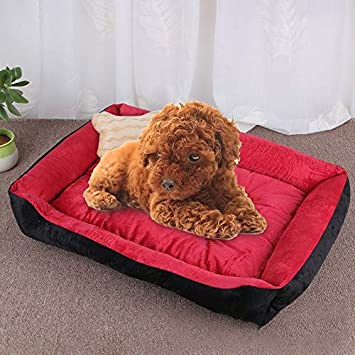 Amazon.com: LZSUS Pet Bed Dog Bone Pattern Big Soft Warm ...