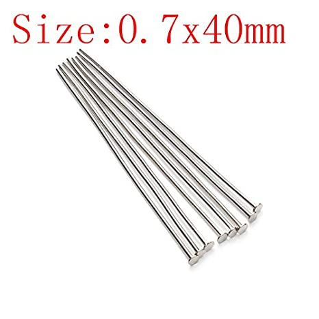 Red Copper 200pcs//bag Dia 0.7mm Head Pins for Jewelry Making Accessories
