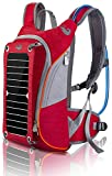 HOWO Outdoor Pack Commputer Solar Powered Backpack (Red)