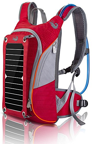 Price comparison product image HOWO Outdoor Pack Commputer Solar Powered Backpack (Red)