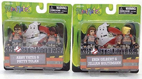 Ghostbusters MiniMates 2016 Movie Set 2-Packs Set Erin Jillian Abby /& Patty NEW