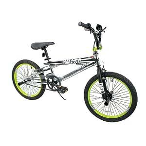 Dynacraft Boy's Magna Pain Killer Bike (Silver/Green, 20-Inch)