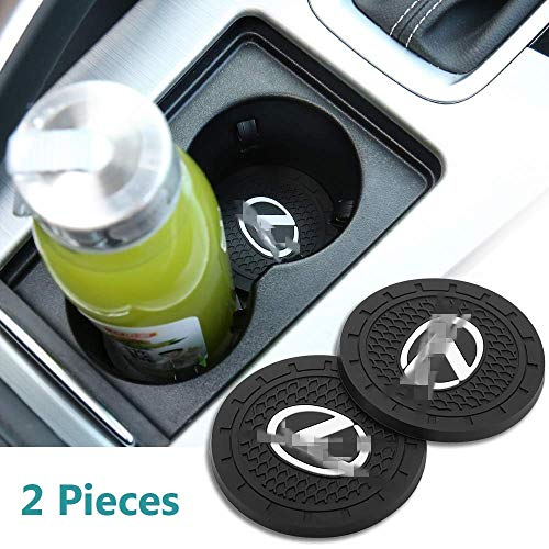 2 Pack 2.75 inch Car Interior Accessories Anti Slip Cup Mat, Vehicle Travel Auto Cup Holder Insert Coaster Can for Lexus All Models