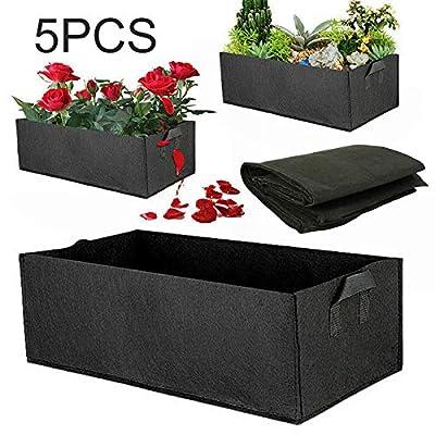 ttbero 5 pcs Fabric Raised Garden Bed Square Garden Flower Grow Bag Vegetable Planting Bag Planter Pot for Plants Flower : Garden & Outdoor