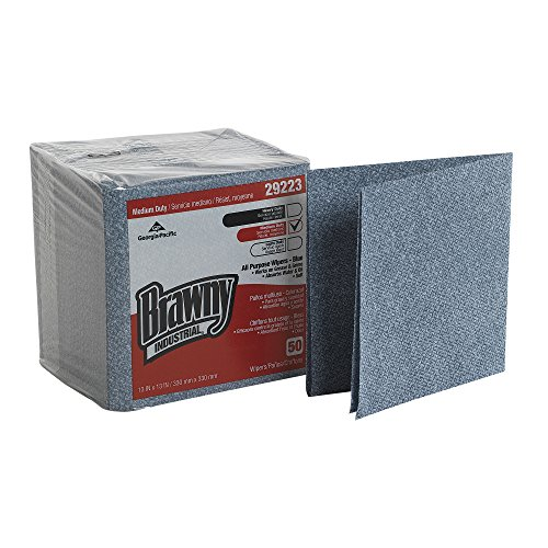brawny-industrial-29223-blue-medium-duty-all-purpose-airlaid-poly-pack-1-4-fold-wiper-13-length-x-13