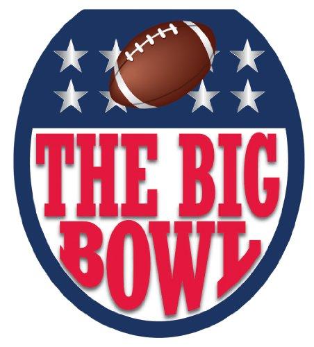 [Toilet Tattoos, Toilet Seat  Cover Decal, Big Bowl Football , Size Round/standard] (Funny Award Ideas)
