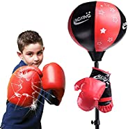 Punching Bag for Kids with Boxing Gloves,3-8 Years Old Adjustable Kids Punching Bag with Stand,Adjustable Heig