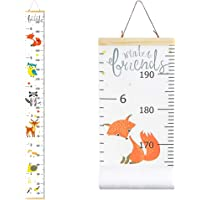 Fox Growth Chart for Kids,Children Height Ruler Wall Decorations,Removable Animals Height Measurement for Kids Bedroom,79x8Inches