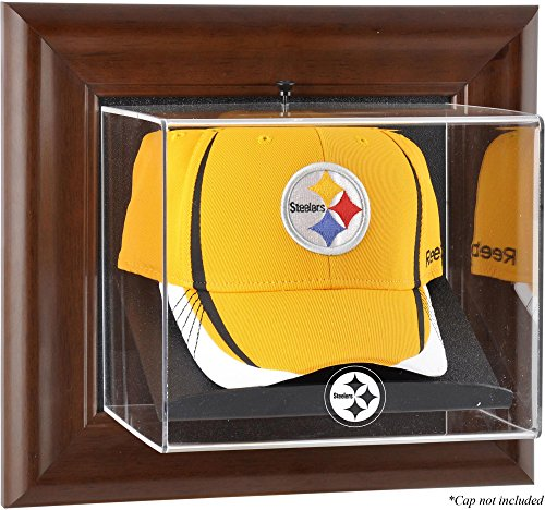 (Mounted Memories Pittsburgh Steelers Brown Framed Baseball Cap Case - Pittsburgh Steelers One)