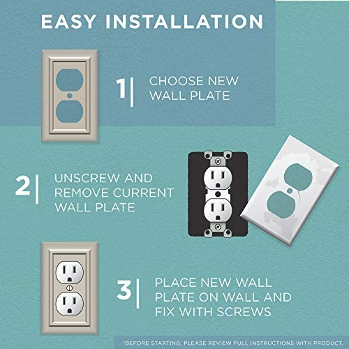 tools, home improvement, electrical, wall plates, accessories,  wall plates 8 picture Arboresque Double Switch Wall Plate, Packaging may Vary promotion