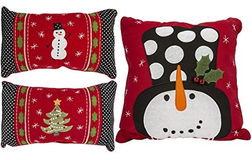 Grasslands Road A Very Merry Christmas: Set of 3 Pillows