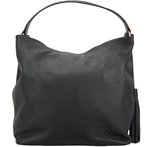 BAG LEATHER MAZARINE SHOULDER IN HOBO Black 5758 CALSKIN wPnqXEaZ