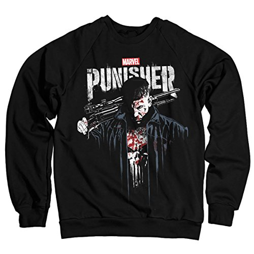 Oficialmente Licenciado Marvels The Punisher Blood Sudaderas (Negro): Amazon.es: Ropa y accesorios