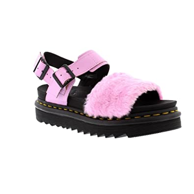 30a11017798 Dr. Martens Women s Voss Fluffy Mallow Pink Toby Fur Mallow Pink Hydro  Leather 4
