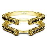 0.36 ct. Black Diamonds Cathedral Filigree Wedding Ring Guard in 10k Yellow gold (3/8 ct.)
