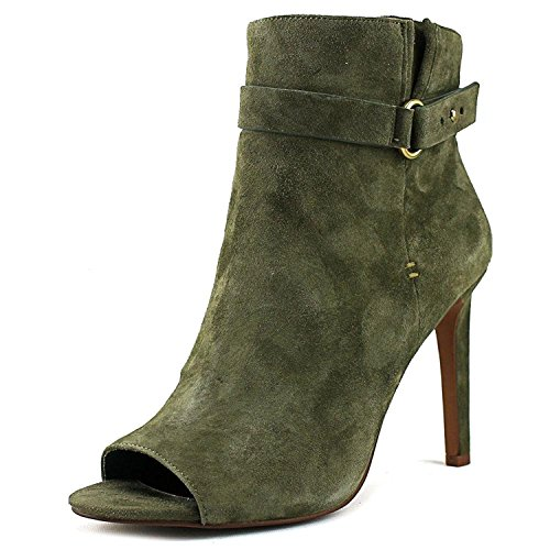 BCBGeneration Womens Cassia Suede Open Toe Ankle Fashion Boots, Green, Size 5.0