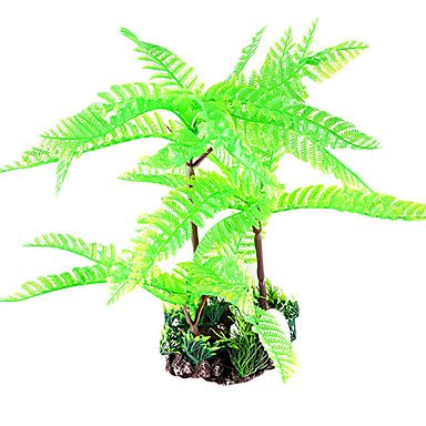 Quick shopping Classic Green Imitation Trees Decoration For Fish Tank Aquarium(1 Pc)