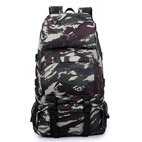 40L Tactical Military Backpack Hiking Mountaineering Rucksack Outdoor Molle Bag Pack Waterproof Oxford Hunting Backpacks XA162WA Sea camo