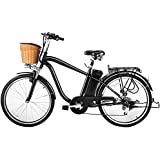 NAKTO/SPARK 26'' City Electric Bicycle Ebike with 36V 10Ah Lithium Battery for Men