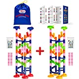 WEofferwhatYOUwant Marble Run Coaster Toy Challenge - Construction Set for Children. Twin Track Tower for Family and Friends. 122 Assembled Pieces