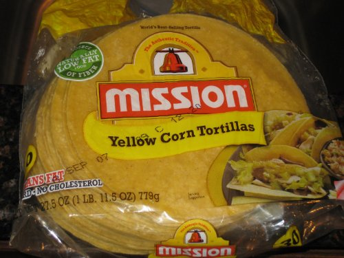- Mission, Yellow Corn Tortillas, 30 Count, 25oz Bag (Pack of 2)
