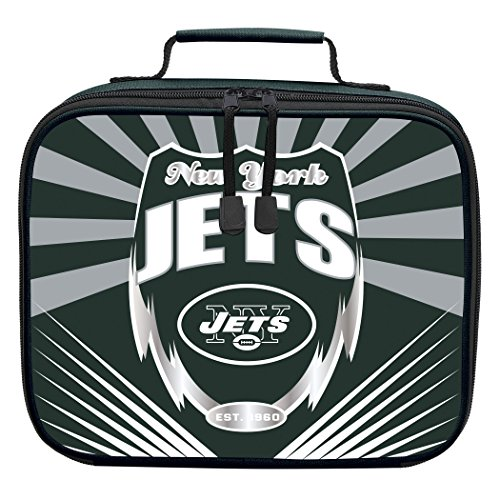 The Northwest Company Officially Licensed NFL New York Jets Lightning Kids Lunch Kit, Green