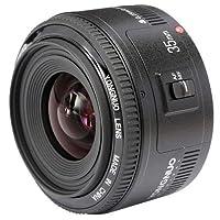 Yongnuo YN35MM Canon–Objektiv für Reflexkamera (f/2.0AF/MF), Schwarz