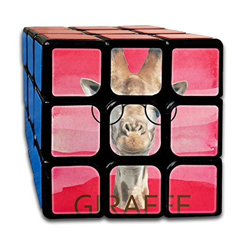 Third Wheel Costume Ideas (Giraffe Glasses 3x3x3 Third Order Cube Toy Ultra-Smooth Stress Reducer For ADHD Hand Killing Time Custom Design Graphic)