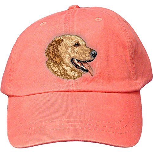 Cherrybrook Dog Breed Embroidered Adams Cotton Twill Caps - Coral - Golden ()