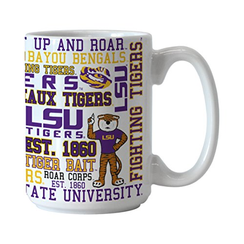NCAA LSU Tigers Spirit Mug, 15-ounce - Lsu Tigers Coffee Mug