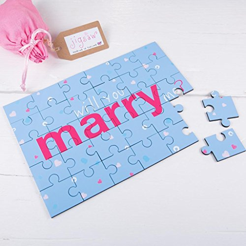 Will You Marry Me Proposal Wooden Jigsaw Secret Message Top Quality 30 Pieces Marriage Engagement Valentines Day Gift -  60 Second Makeover Limited, 60SECONMLKJIGMAR