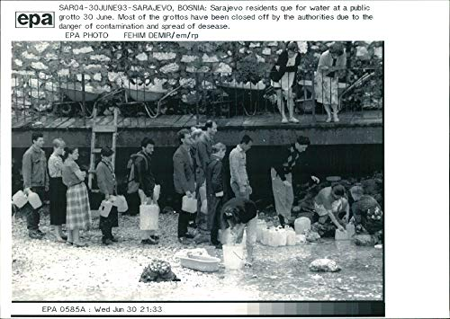 Grotto Collection (Vintage photo of Sarajevo residents que for water at public grotto.)