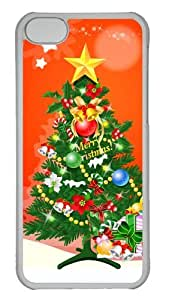 Customized Case 3D Christmas Trees PC Transparent for Apple iPhone 5C