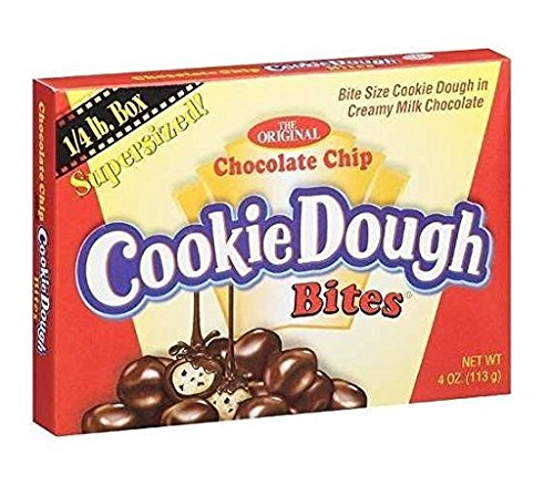The Original Chocolate Chip Cookie Dough Bites (Pack of 4) 4 oz Theater Boxes