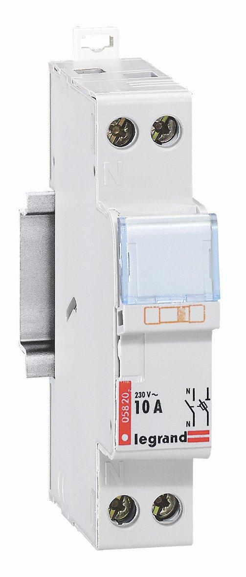 Legrand LEG005820 Coupe-circuit domestique 1p+n cartouche cylindrique domestique 10 A LEG05820 Protection tableau electrique coupe circuit sectionneur contacteur inter diff interrupteur differentiel declencheur telerupteur parafoudre permutateur