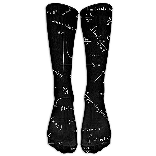 Sateen Oxford (Science Math Girl Long Length Stockings Funny Stretch Stockings For Casual Crew Socks)