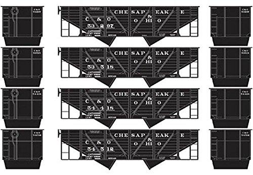 2-Bay Hopper w/Coal Load, C&O #2 (4) ()