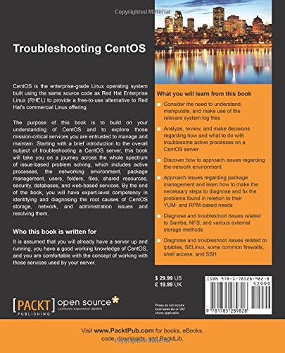 Amazon com: Troubleshooting CentOS (9781785289828): Jonathan