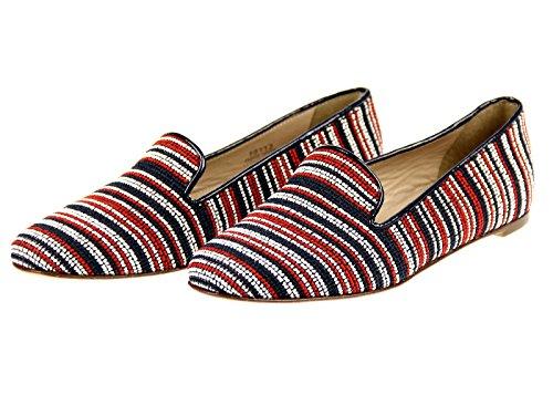 ... J Mannskap Darby Perle-stitch Loafers Størrelse 6 Stil # 70112  Multi-farge Sko