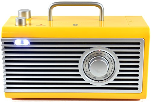 Kaito CBR3 Collectible AM/FM Radio with High Quality Bluetooth Speaker and LED Light +More (Yellow) by Kaito