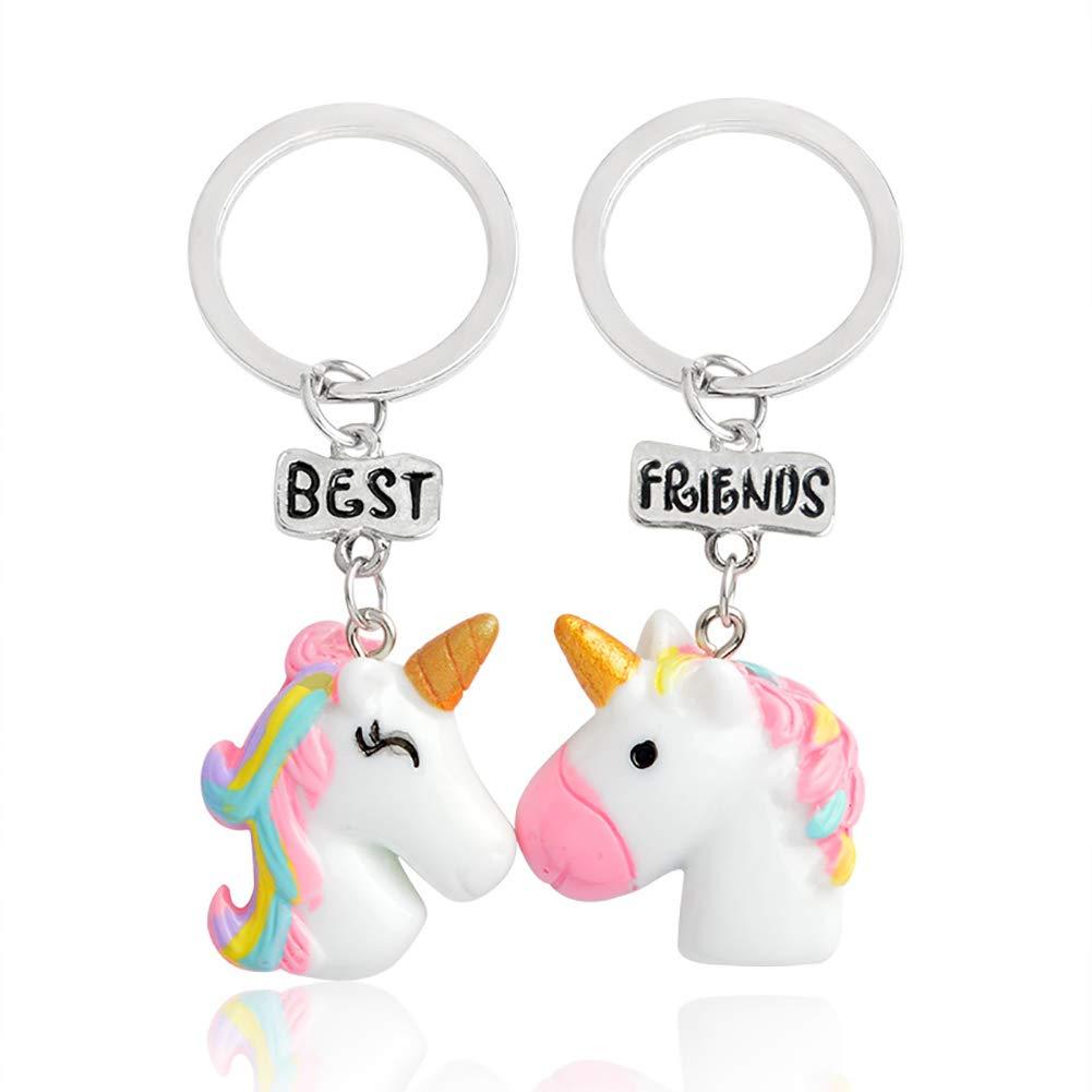 Da.Wa 2 x Best Friends Unicorn Keychain Cartoon Keychain Child Girl Child Craft Gift Set