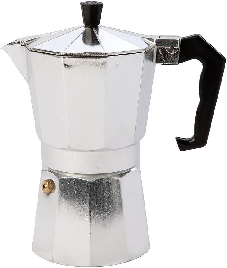 Bo-Camp - Cafetera BC Espresso Maker, 6 Tazas, Plateada ...