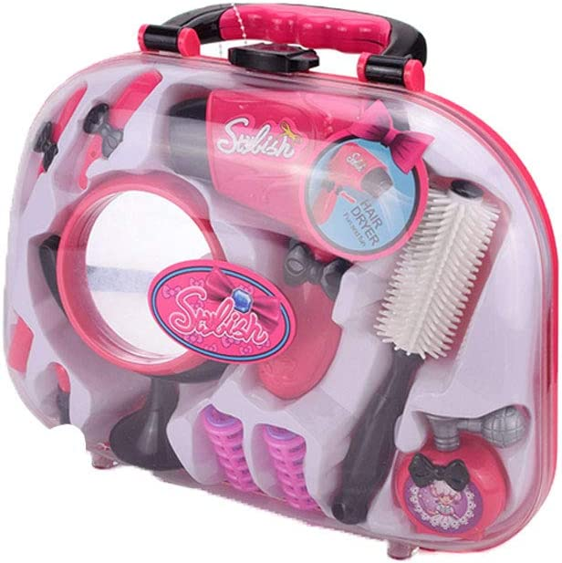 Girls Beauty Salon Styling Fashion Pretend Play Set Hair Stylist Makeup for Pretend Play Styling Accessories Style-BJ1305 1Set