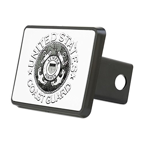 - Rectangular Hitch Cover US Coast Guard Semper Paratus Emblem