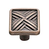 Knobware C3560 Hard Cross Knob, 1.5-Inch, Venetian Bronze