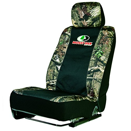 Mossy Oak Camo Low-Back Bucket Seat Cover (Mossy Oak Infinity Camo, Durable Polyester Fabric, Includes Seat Cover and Headresst Cover, Sold Individually) (Boat Seat Covers Bench)