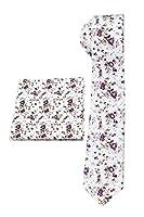 Floral Skinny Necktie and Pocket Square Set