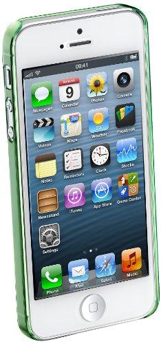 Cellular Line ICEIPHONE5G Ultraslim transparentes Backcover für Apple iPhone 5 inkl. Displaschutzfolie grün