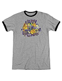 Batman Ha Ha Halloween Mens Adult Heather Ringer Shirt